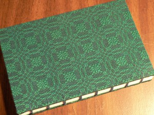 Green tencel and teal tabby