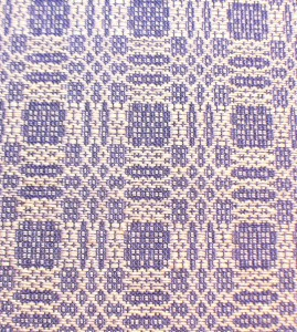 madder-dyed pattern weft with purple tabby