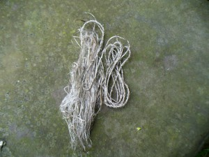 mystery fiber and cordage in process