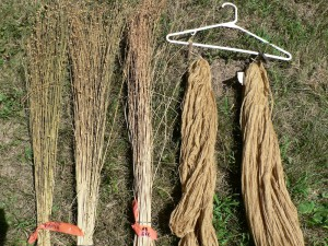 yarrow yarn and dried flax