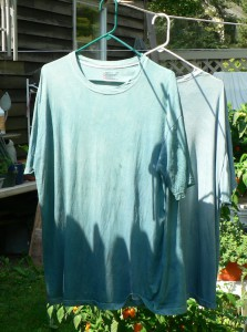 drying woad shirts
