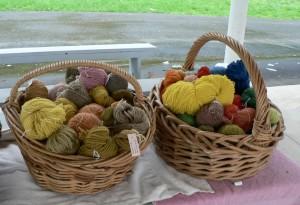 naturally dyed wool yarns