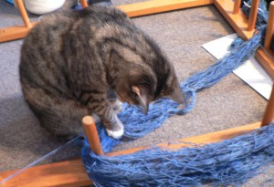 Pippi with woad skein