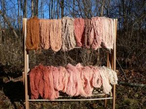 drying rack madder yarns