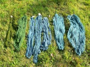 oxidizing cellulose yarns