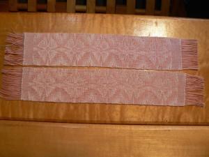 pink twill motif bookmarks