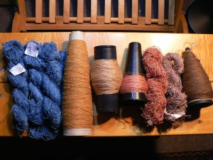 naturally dyed linen yarns