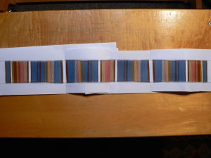 symmetrical warp with stripes