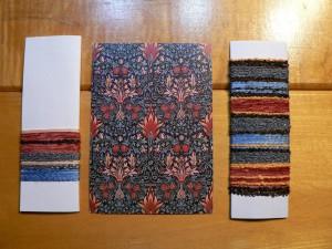 William Morris inspired yarn wraps