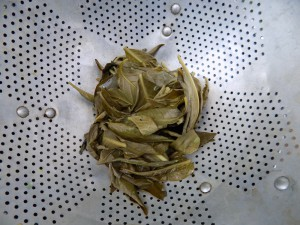 one jar strained leaves
