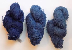 over dyed blues with Japanese indigo
