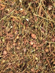 dried flax debris