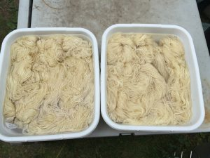 yarn soaking